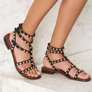 Sam Edelman Studded Black Sandals Size 6.5